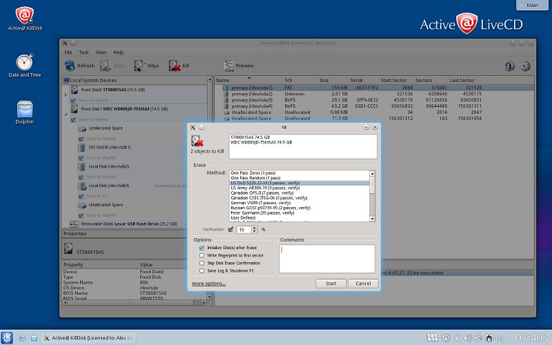 Active Killdisk Hard Disk Eraser Screenshots